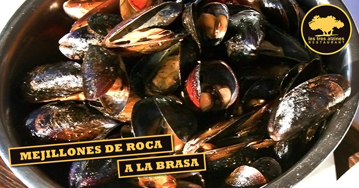 Restaurante braseria en La Roca Village - Les Tres Alzines - Mejillones de roca a la brasa