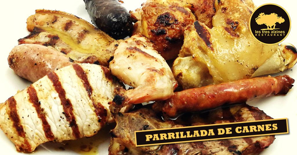 Restaurante braseria en La Roca Village - Les Tres Alzines - Parrillada de carnes