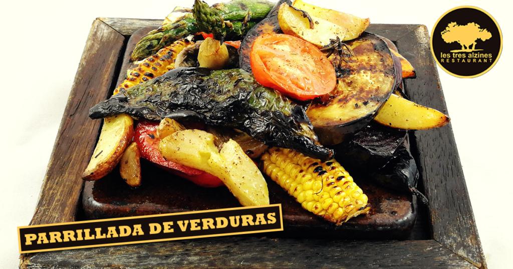 Restaurante braseria en La Roca Village - Les Tres Alzines - Parrillada de verduras